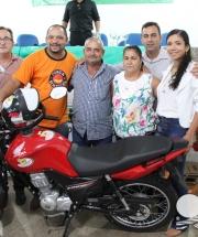 Sorteio motos Campanha de Fortalecimento das Entidades de Base